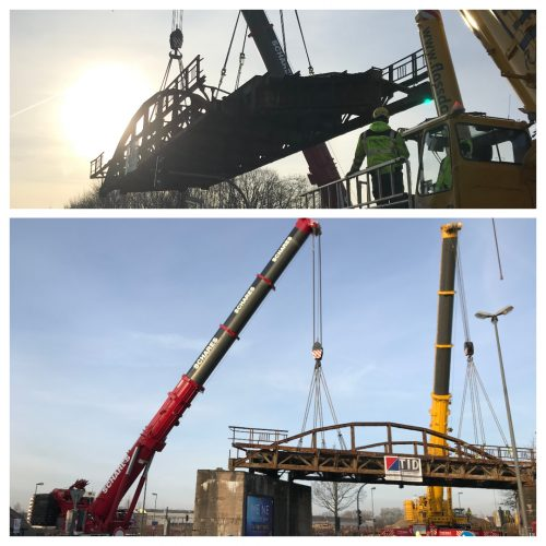 crane planning bridge deconstruction